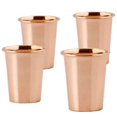12 oz. Solid Copper Flared Tumbler (Set of 4)