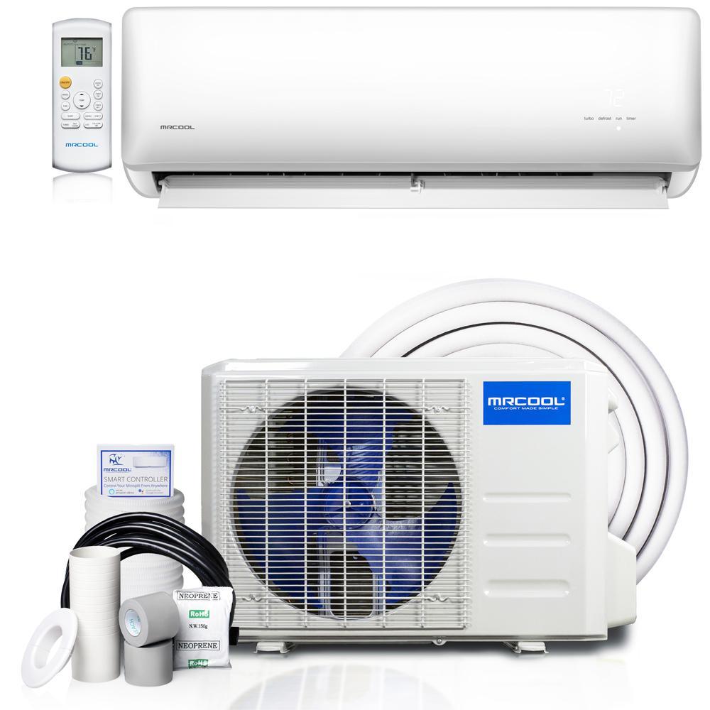 Olympus ENERGY STAR 9,000 BTU 3/4 Ton Ductless Mini Split Air Conditioner and Heat Pump - 230V/60Hz