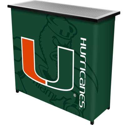 University of Miami Fade 2-Shelf Blue Bar with Case