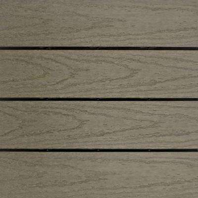 UltraShield Naturale 1 ft. x 1 ft. Quick Deck Outdoor Composite Deck Tile Sample in Egyptian Stone Gray