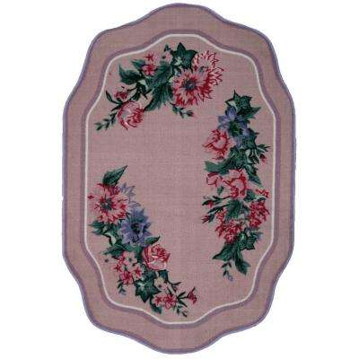 Country Festival Pink 3 ft. 3 in. x 4 ft. 10 in. Accent Rug