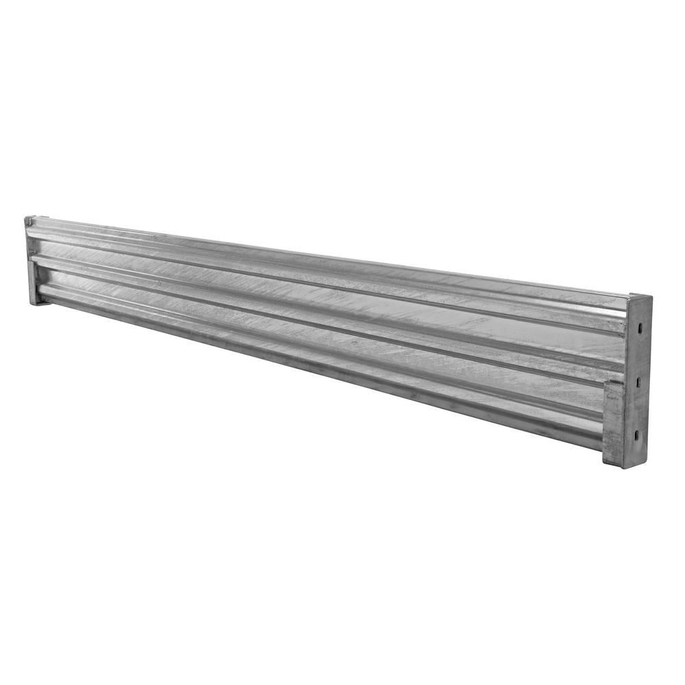114 in. Galvanized Steel Drop-in Style Structural Guard Rail with 2-Brackets