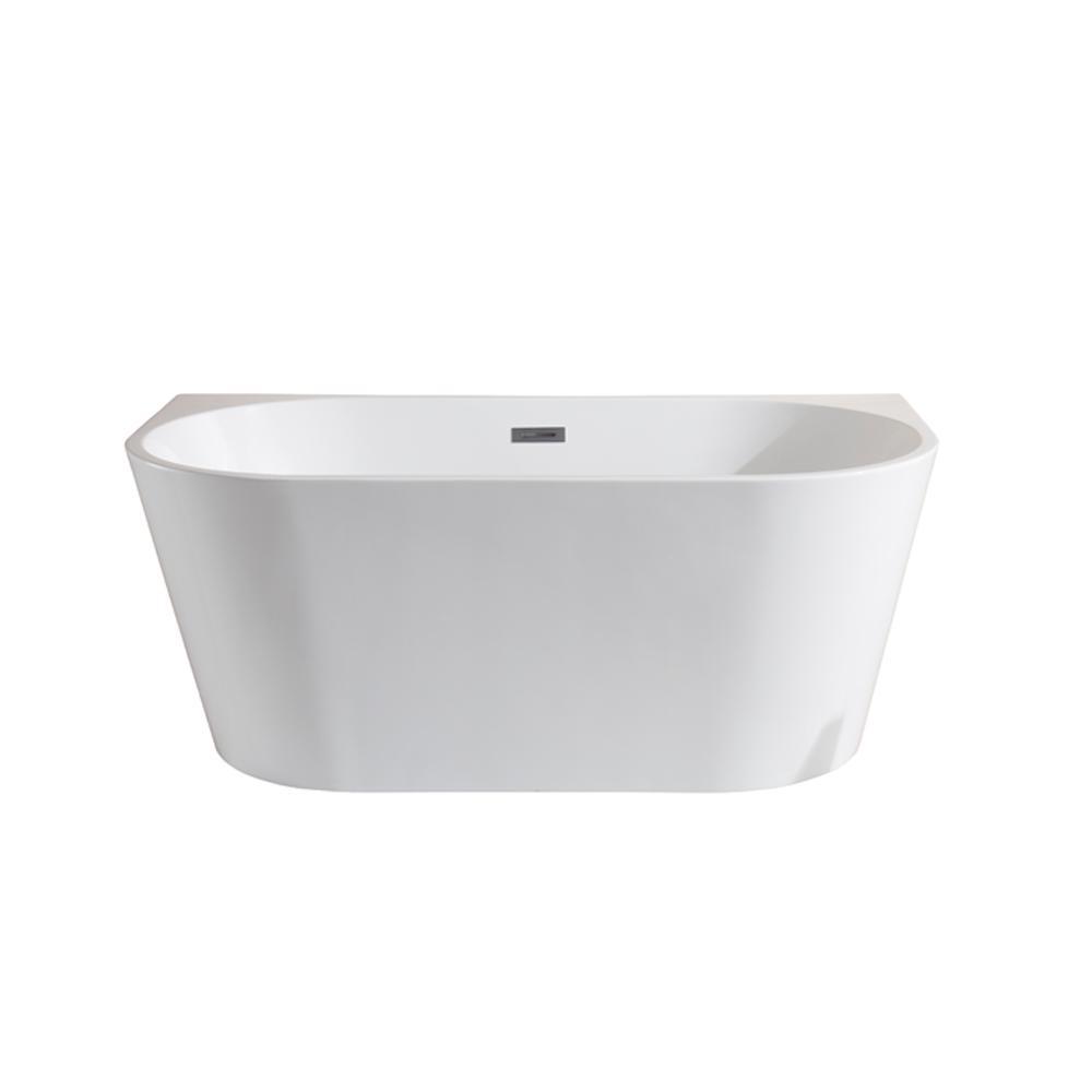 urban retreat collection manchester 49 ft acrylic flatbottom bathtub in white
