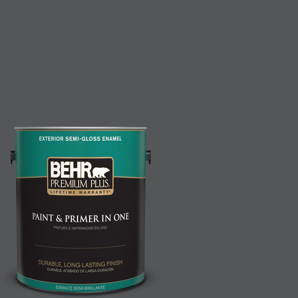 1 gal. #PPU24-22 Shadow Mountain Semi-Gloss Enamel Exterior Paint