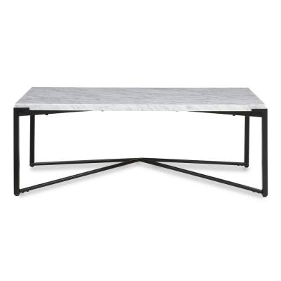 Saxon 48 in. Natural Large Rectangle Marble Coffee Table