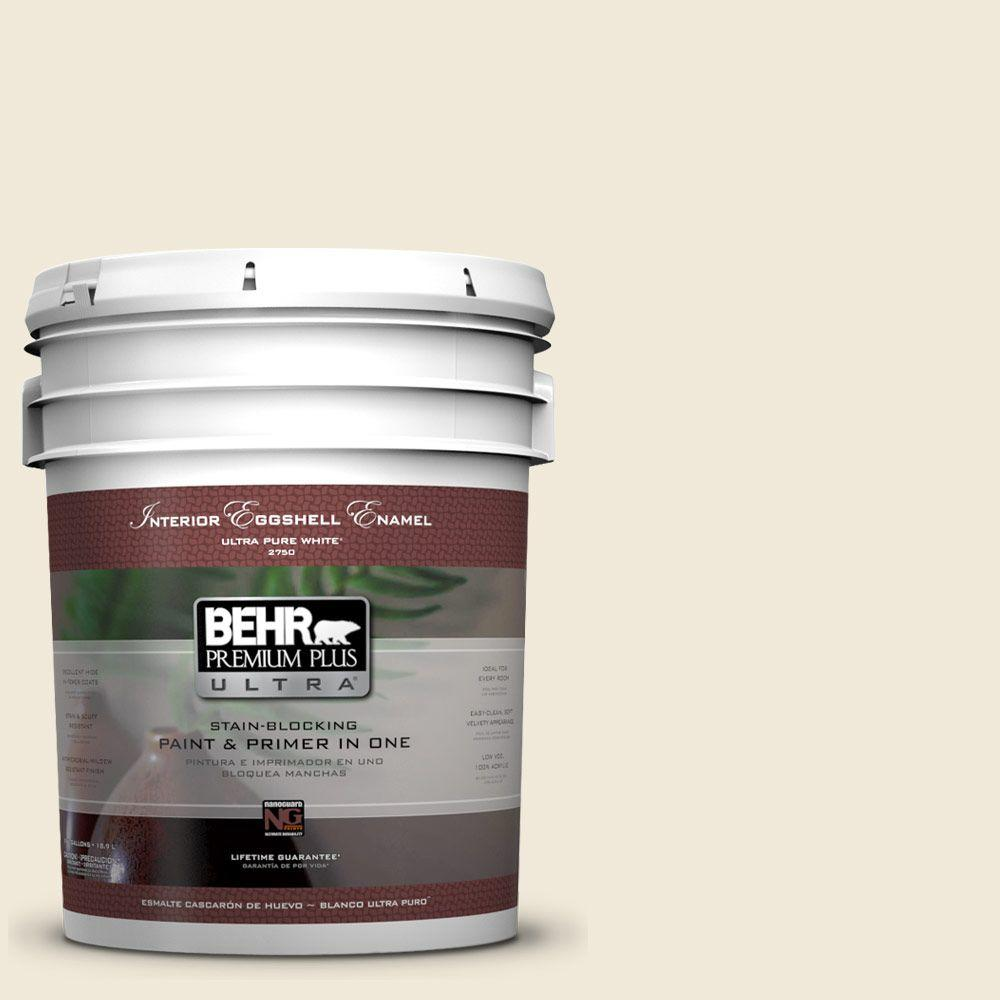 BEHR Premium Plus Ultra 5-gal. #GR-W13 Polished Marble Eggshell Enamel Interior Paint