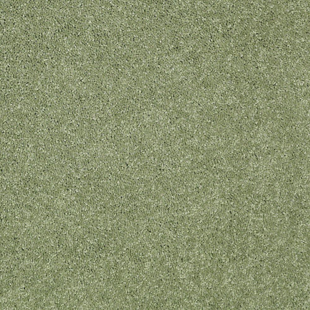 Watercolors I - Color Spearmint Texture 15 ft. Carpet