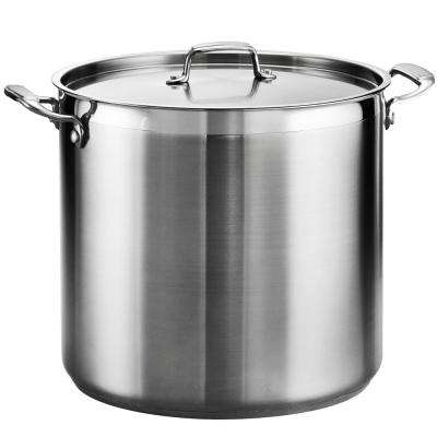 Gourmet 24 Qt. Stainless Steel Stock Pot with Lid