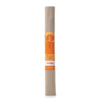 Grip Liner 20 in. x 5 ft. Taupe Non-Adhesive Grip Drawer and Shelf Liner (6 Rolls)