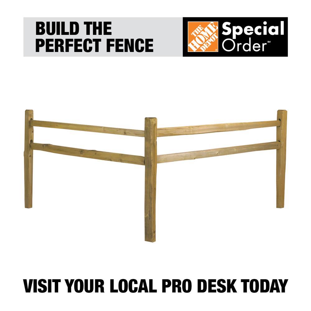 2 in. x 4 in. x 11 ft. Pressure-Treated Poplar Wood Split Rail Fence Picket