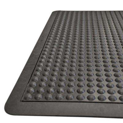 Bubble-Top 5/8 in. x 24 in. x 36 in. Anti-Fatigue Floor Mat Black Borders