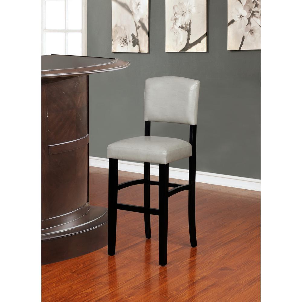 Fabulous Linon Home Decor Monaco 30 In Gray And Black Bar Stool Machost Co Dining Chair Design Ideas Machostcouk