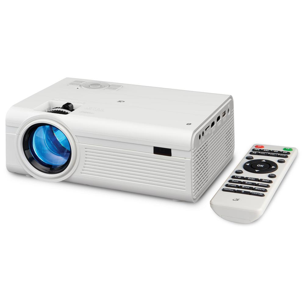800 x 480 Bluetooth Wireless HD Mini Projector with 2000 Lumens