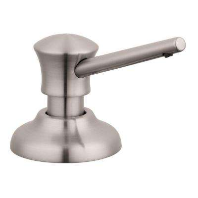 C Soap Dispenser in Steel Optik