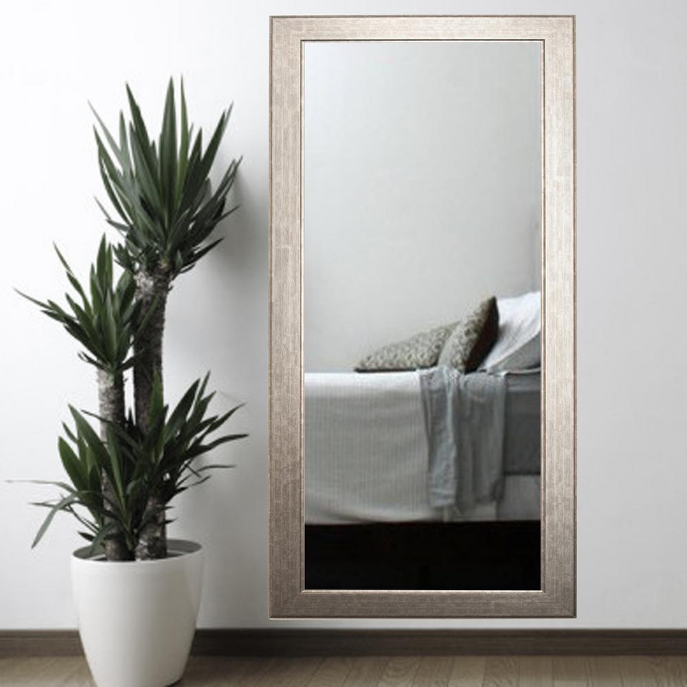 Subway Silver Tall Framed Mirror BM014T 1 The Home Depot