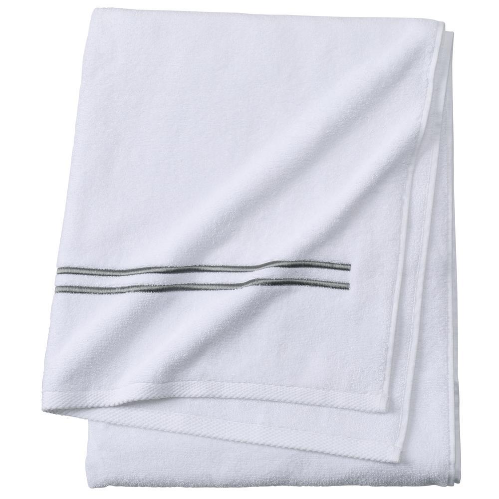 Sardis 1-Piece Bath Towel in Grey