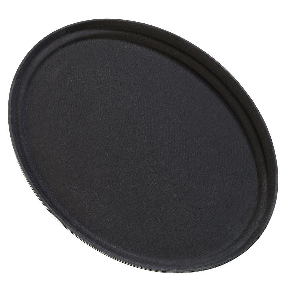 Griptite 25 in. x 19.25 in. Oval Tray in Black (Case of 6)