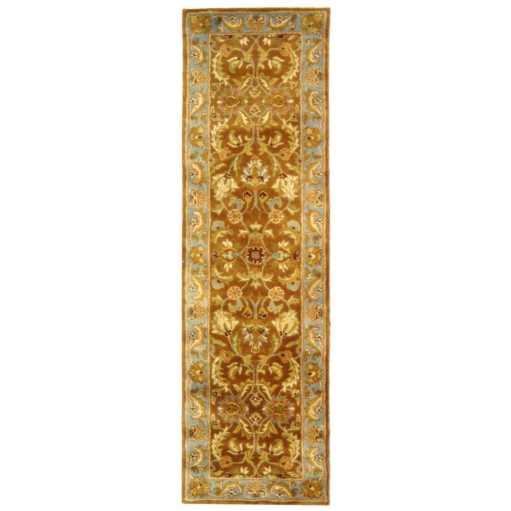 Heritage Brown/Blue 2 ft. 3 in. x 8 ft. Runner