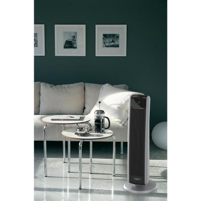 Tall Tower 1500-Watt Electric Ceramic Oscillating Space Heater with Digital Display and Remote Control