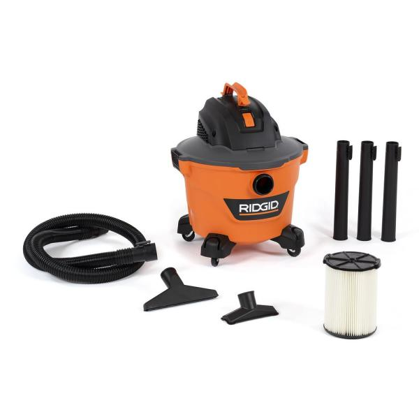 9 Gal. 4.25-Peak HP NXT Wet/Dry Shop Vacuum with Filter, Hose and Accessories