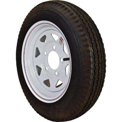 480-12 K353 BIAS 780 lb. Load Capacity White with Stripe 12 in. Bias Tire and Wheel Assembly