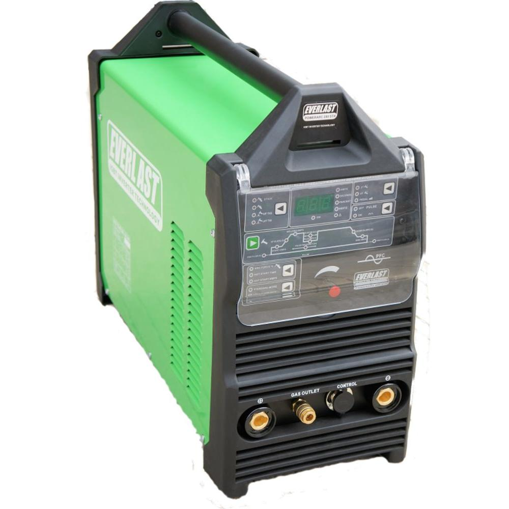 Everlast 280 Amp. Stick/TIG Welder IGBT Inverter DC with High Frequency and Lift TIG Start, 240-Volt