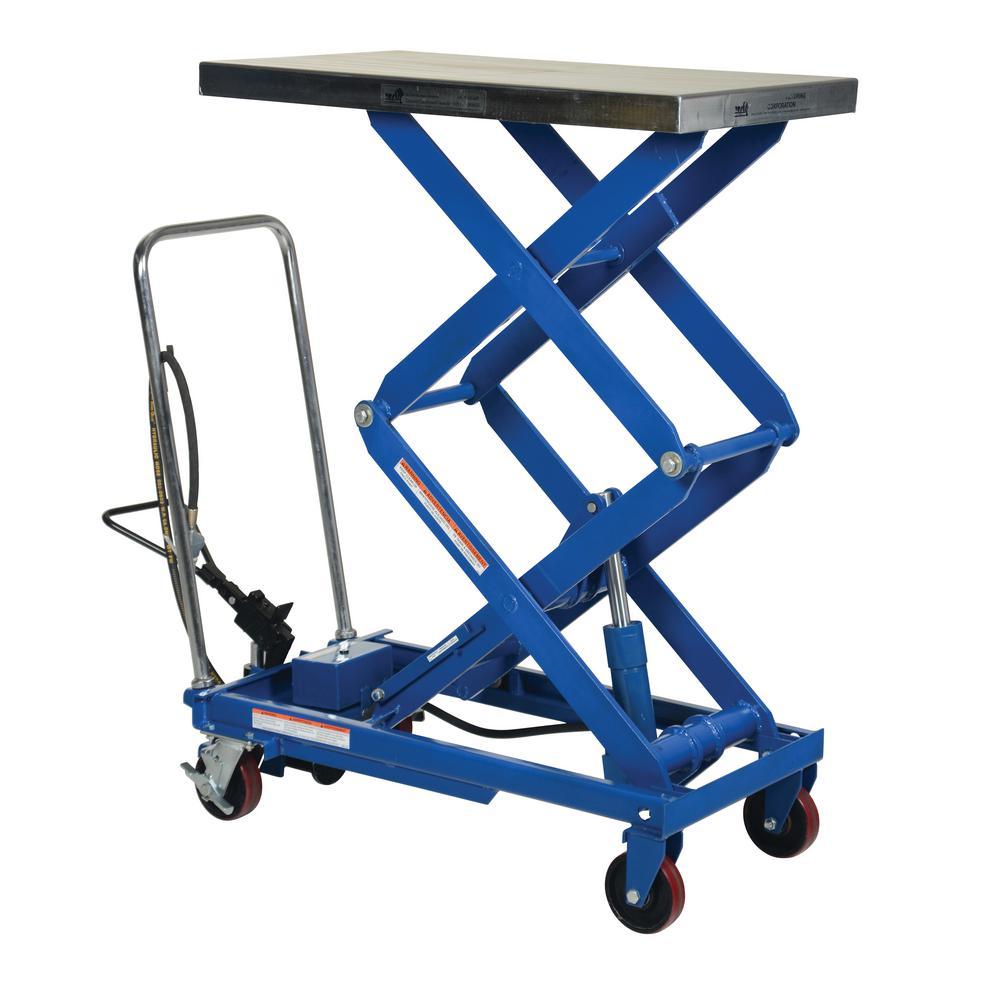 800 lb. 20 in. x 35.5 in. Hydraulic Steel Cart
