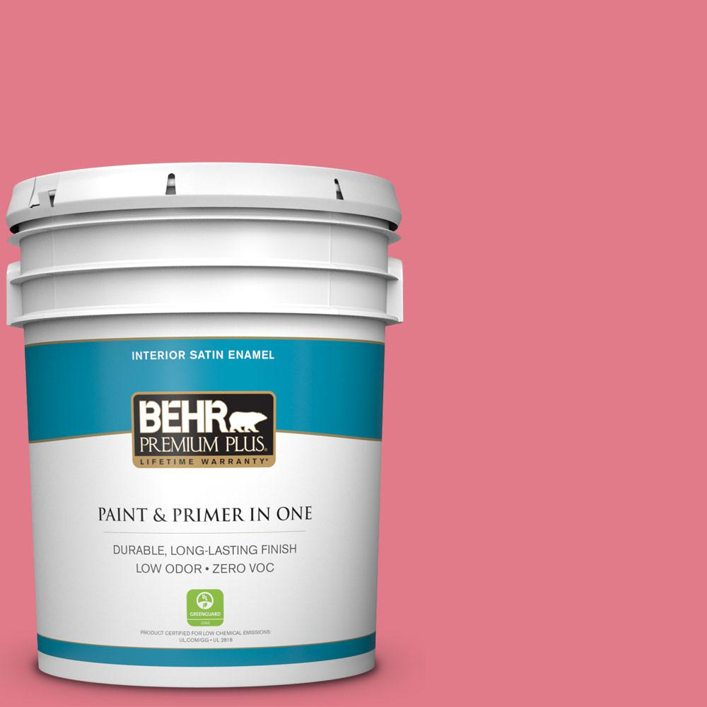BEHR Premium Plus 5-gal. #P150-4 Hot Gossip Satin Enamel Interior Paint