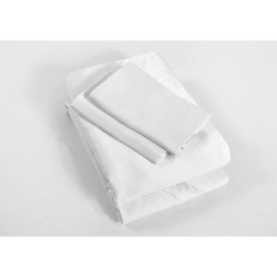 4-Piece White Solid 250 Thread Count Bamboo King Sheet Set