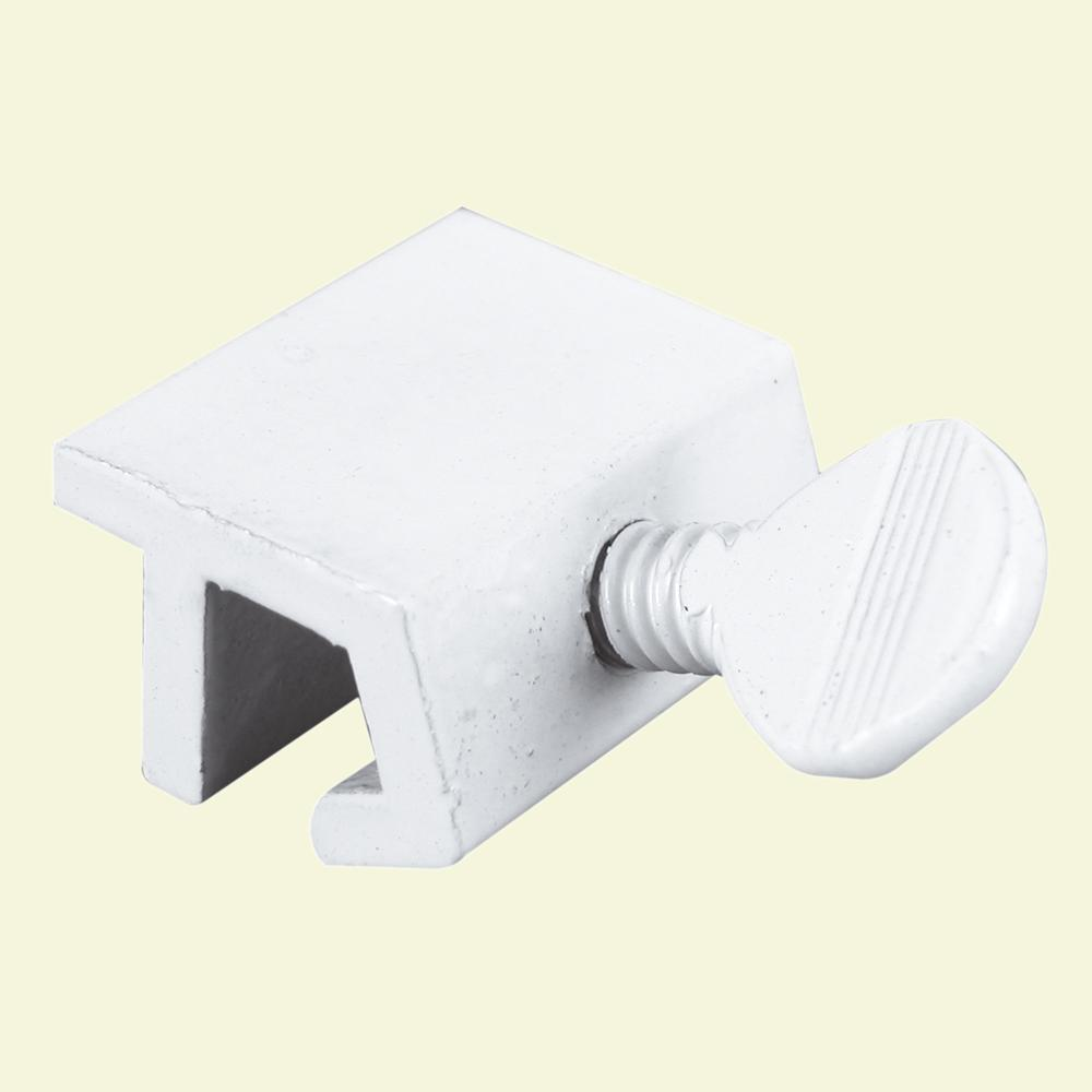 Aluminum White Sliding Window Lock with Thumbscrew