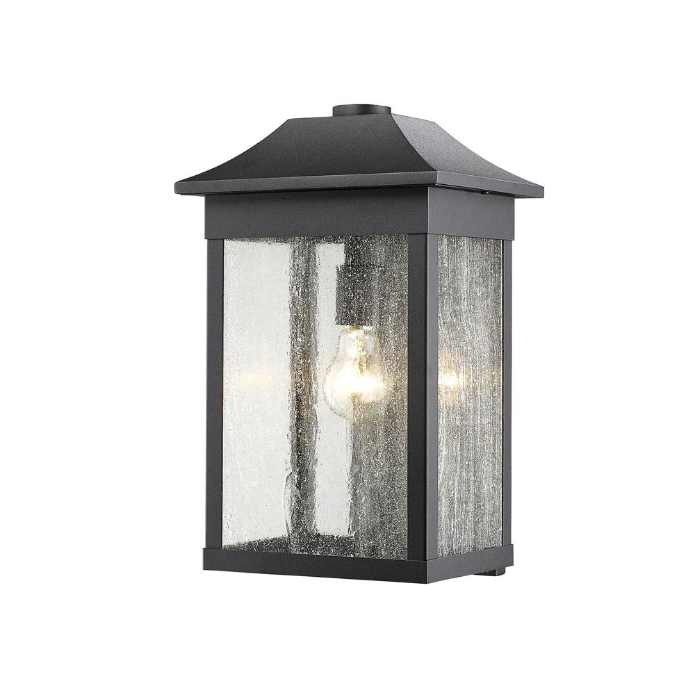 1 Light Black Outdoor Wall Mount Sconce