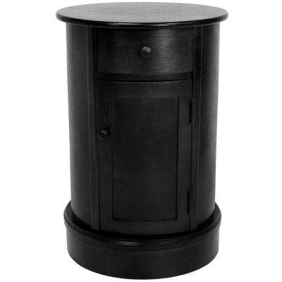 classic oval black side table