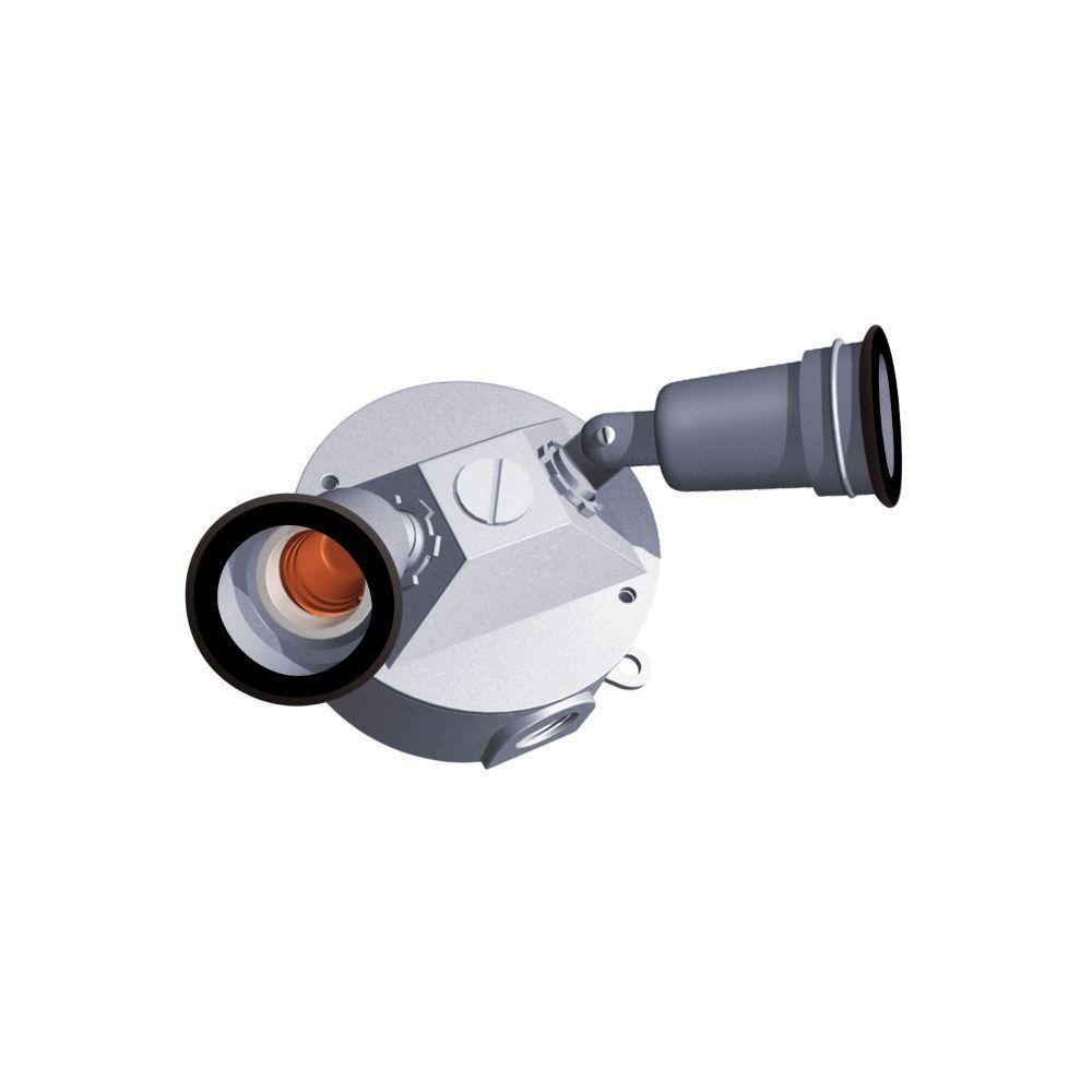 Red Dot Weatherproof Lamp Round Box Kit - Traditional - Silver