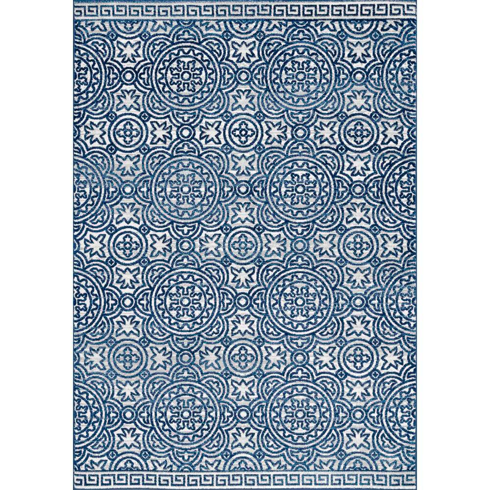 NuLOOM Vintage Shelby Blue 6 Ft. 7 In. X 9 Ft. Area Rug