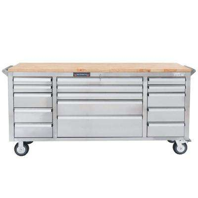 72 in. 15-Drawer Tool Chest, Silver