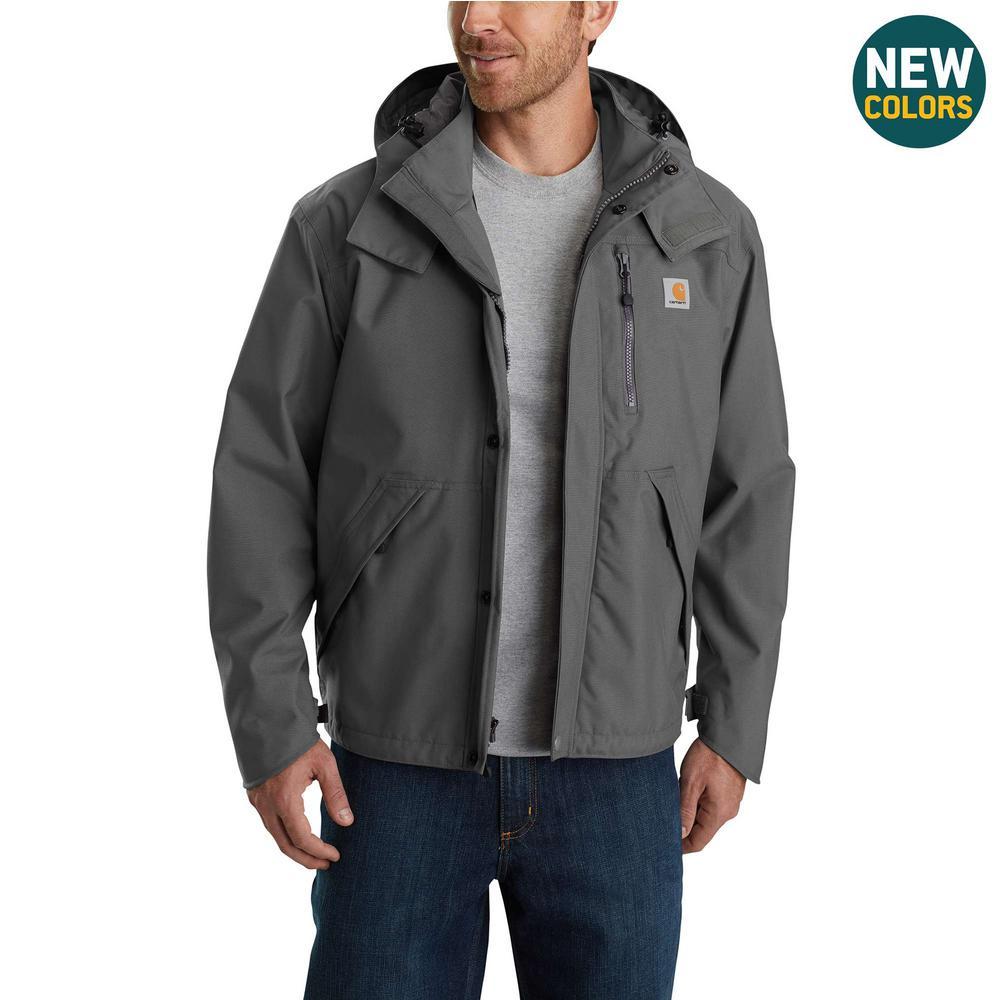 Men's Medium Gravel Nylon Shoreline Jacket