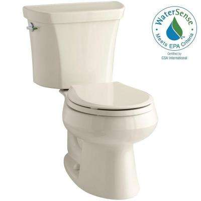 Wellworth 2-piece 1.1 or 1.6 GPF Dual Flush Round Toilet in Almond