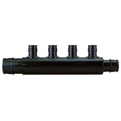 1 in. PEX-A Barb Inlet x 3/4 in. PEX-A Barb Outlet x 1/2 PEX-A Barb Poly-Alloy 4-Port Open Manifold