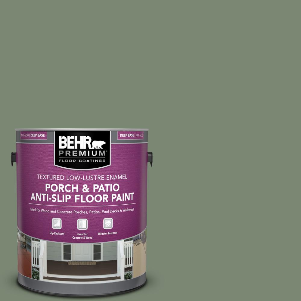 Behr Premium 1 Gal 440f 5 Winter Hedge Textured Low Lustre Enamel Interior Exterior Porch And Patio Anti Slip Floor Paint 623001 The Home Depot
