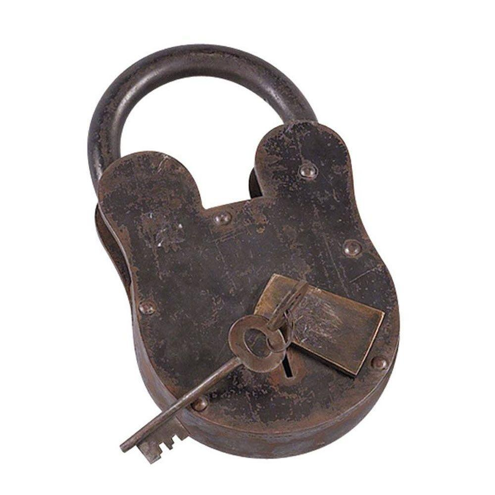 Home Decorators Collection Bolt Rusted Metal 11 in. H Lock and Keys