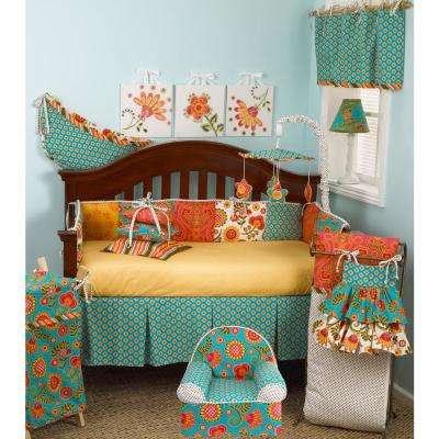 Gypsy Multi-Color Floral Cotton Kid's Foam Chair