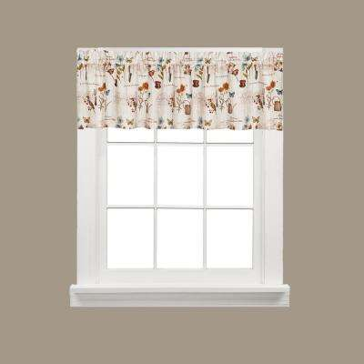 Le Jardin 13 in. L Polyester Valance in Multi-Color