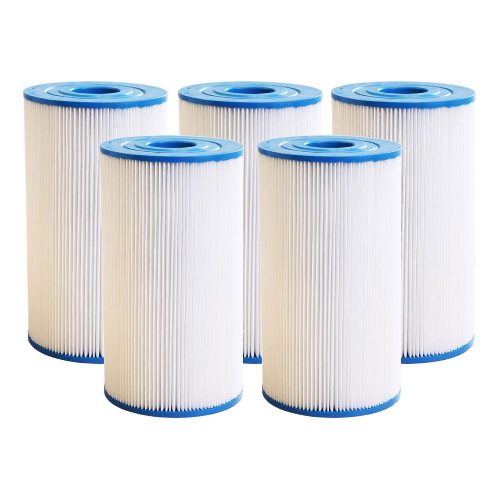 30 sq. ft Spa Filter Cartridge for Watkins 31489, Pleatco PWK30, Filbur FC-3915, C-6430 5-Pack