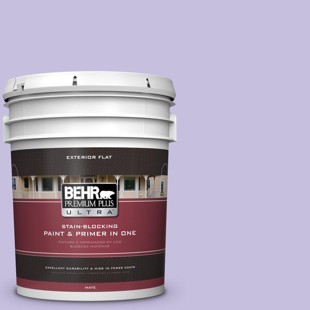 BEHR Premium Plus Ultra 5-gal. #640B-4 Innuendo Flat Exterior Paint