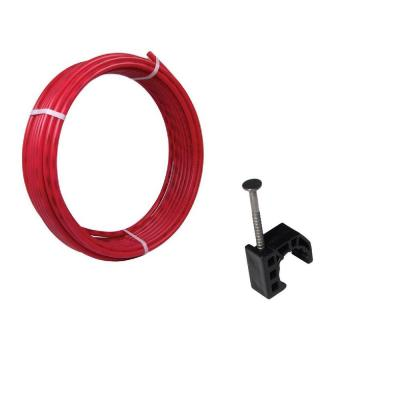 1/2 in. x 100 ft. Coil Red PEx Pipe and 10-Pack Talon Clamps