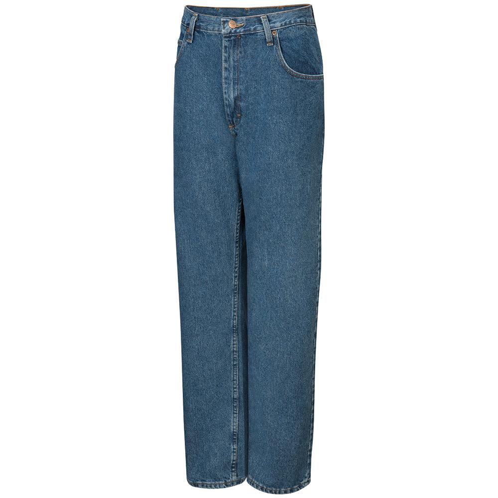 5bfc7643 Red Kap Men's Size 48 in. x 34 in. Stonewash Relaxed Fit Jean-PD60SW ...