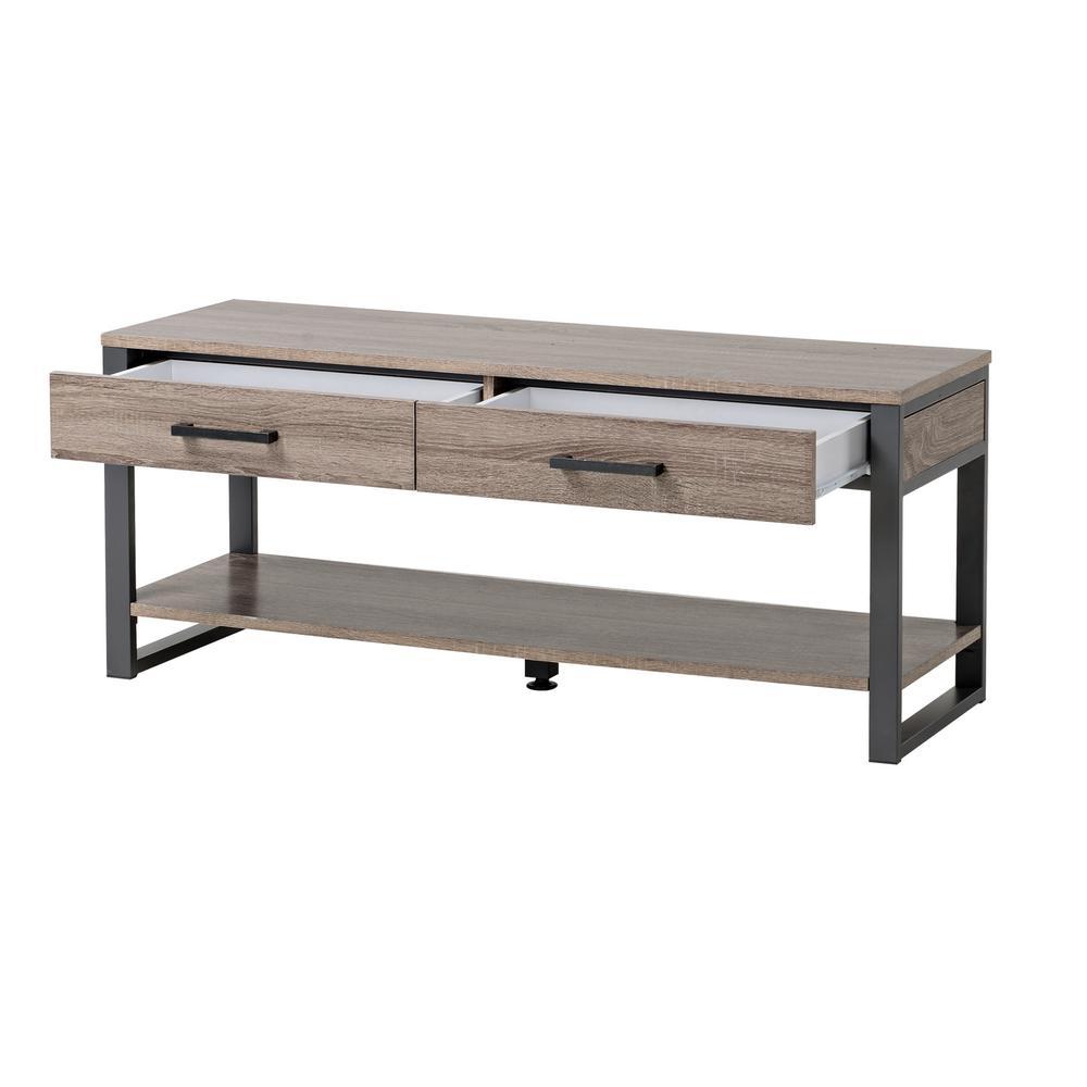 Homestar Warm Reclaimed Wood 2 Drawer And 1 Shelf Entryway Bench