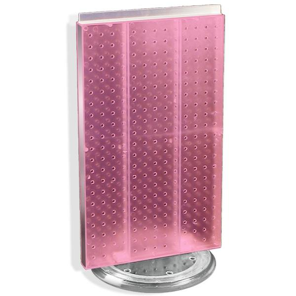22 in. H x 13.5 in. W Pegboard Revolving Pink