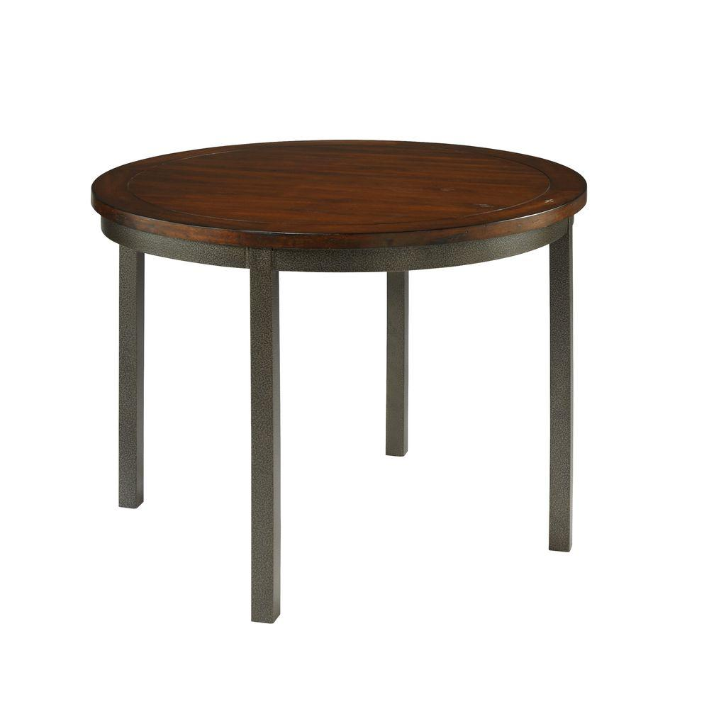 Wood And Metal Round Dining Table Part - 27: Cabin Creek Hammered Metal Round Dining Table