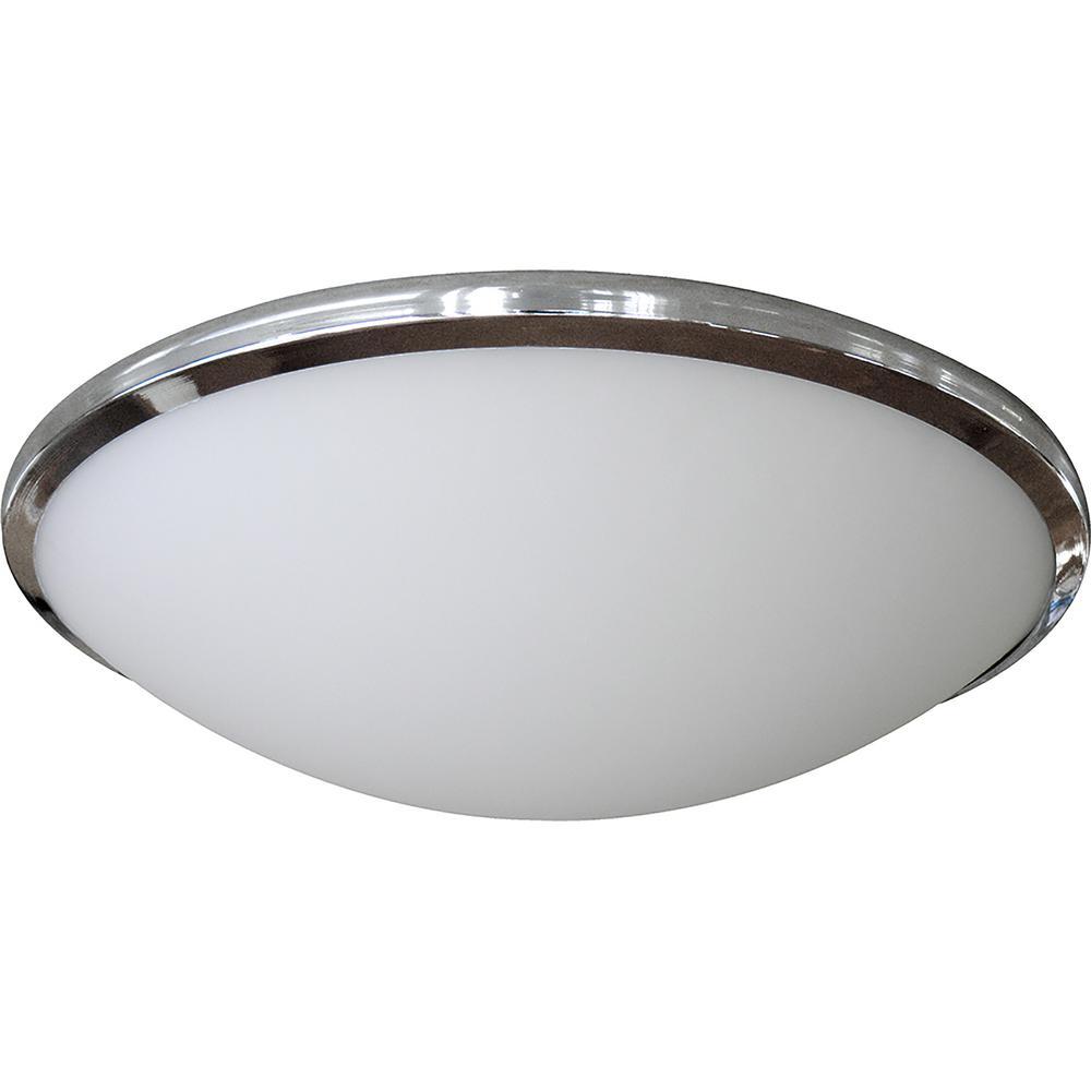 3-Light Satin Steel Flushmount